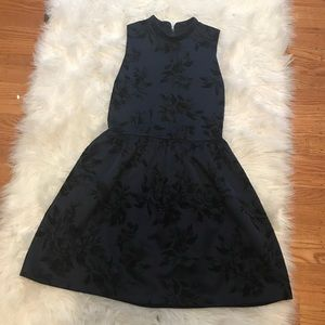 Love Addy High Neck Navy Baroque Dress